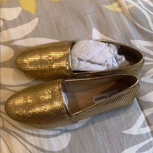 Gold slip on shoe